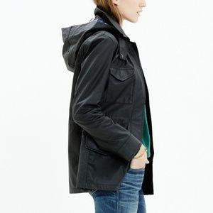 Madewell Roadtrip black coated Jacket sz small